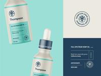 Packaging Design for Thompson Hemp Oil brand identity branding emblem logo dietary vitamin supplement hemp oil hemp cbd packaging design packaging