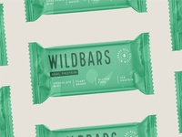 Packaging design for Wildbars logotype supplement nutrition emblem stamp plant based protein bar mint chocolate protein food packaging design packaging branding logo bars bar wild
