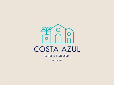 Branding for Costa Azul monogram visual identity brand identity palm house home real estate residence stamp logotype type emblem logo branding