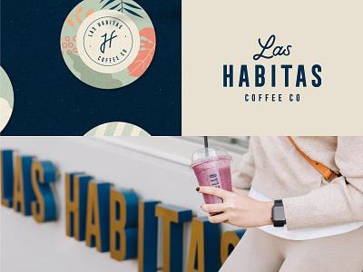 Branding for Las Habitas Coffee Co. logotype monogram lounge drink roaster cafe coffee shop coffee logo design brand identity logo branding