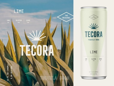 Branding & Packaging Design for Tecora Tequila Soda 🌴 logo drink cbd sparkling vodka sodacan can soda emblem packaging branding