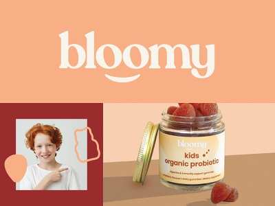 Branding & Packaging Design for Bloomy wellness supplement vitamin organic probiotic cbd kids emblem logo packaging design packaging branding