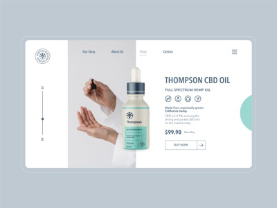 Website Design for Thompson 💧 ux shopify ecommerce minimalisic homepage branding landing page minimal ui design website design web website