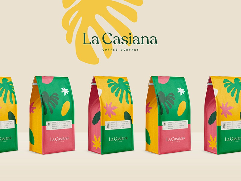 La Casiana Coffee Company branding logo type illustration packaging mustafa akülker coffee cafe tropical label plant