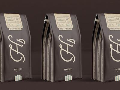 Herschel's Coffee Co. Packaging logotype coffee shop coffee herschels packaging emblem logo branding