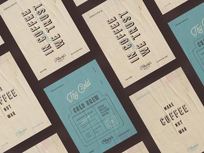 Poster design for Herschel's mustafa akülker typography logotype logo coffee shop coffee packaging branding poster
