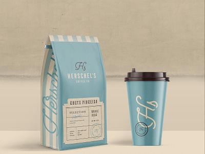 Herschel's Coffee Co. Packaging roastery coffee shop coffee packaging logo mustafa akülker branding