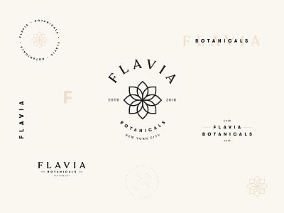 Flavia Botanicals cosmetics skincare emblem logotype branding logo