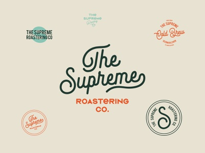 Branding for The Supreme Roastering Co. stamp brand identity logotype logo branding roastery coffee shop coffee