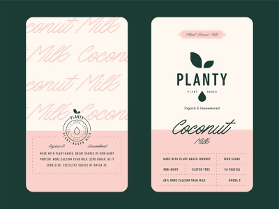 Milk Packaging for Planty label planty non-dairy dairy milk packaging milk packaging branding logo