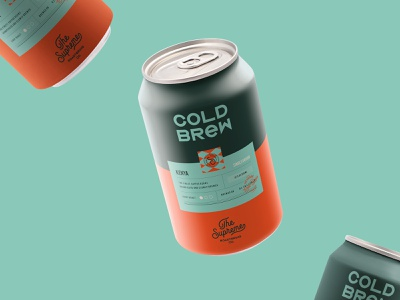 Cold Brew Packaging Design for The Supreme roastery cafe logo label can cold brew coffee packaging branding