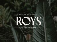 Logo Development for Roys Natural Skincare