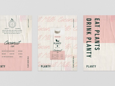 Poster design for Planty type logotype plant based plantbased plant milk label poster emblem logo packaging branding