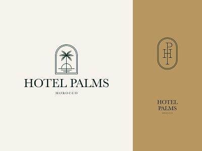 Branding for Hotel Palms palm identity hotel brand design branding stamp monogram emblem logotype logo