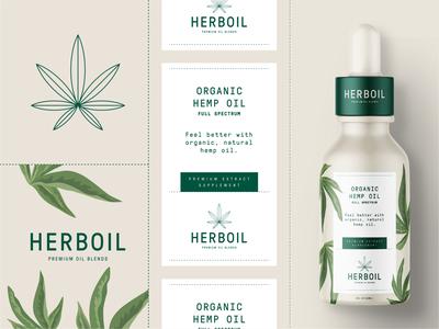 Herboil Organic Hemp Oil Branding