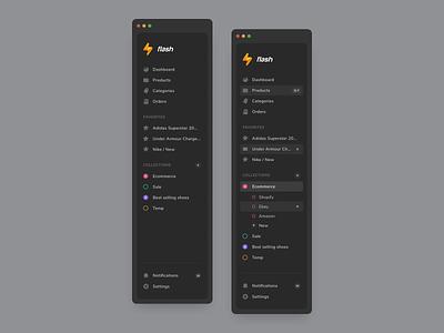 Web navigation anoshko dark mode dark ui dark design system dailyui drawer bar menu component navigation flat app web ux ui design