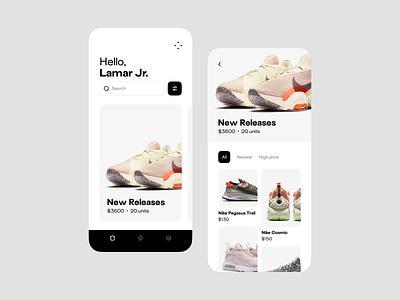 Item group shop store inventory ecommerce mobile app ux clean ui design
