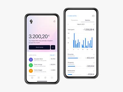 Mobile banking anoshko native banking mobile ios minimal clean ux ui app design