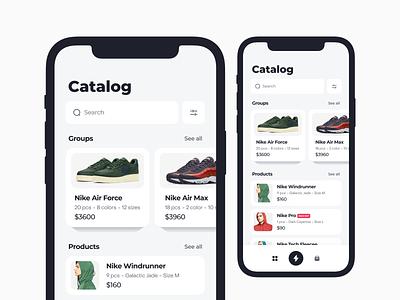 Ecommerce inventory management app items management inventory ecommerce mobile anoshko app clean ux ui design