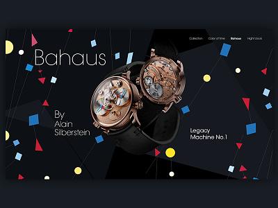 Silberstein Clock concept bahaus concept web paris alain silberstein clock