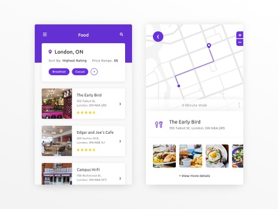 Daily UI #029 - Map food material design tags filter location map 029 dailyui concept ux mobile ui