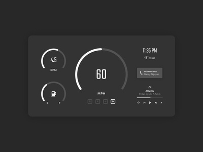 Daily Ui 034 Car Interface By Nancy Nguyen Dribbble