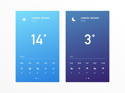 Daily UI #037 - Weather icon london ontario temperature sunny app weather 037 dailyui concept ux mobile ui
