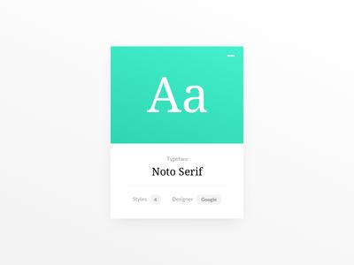 Daily UI #045 - Info Card google type font module info card 045 dailyui concept ux web ui