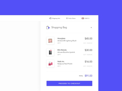 Daily UI #058 - Shopping Cart ecommerce purchase checkout cart bag shopping 058 dailyui concept ux web ui