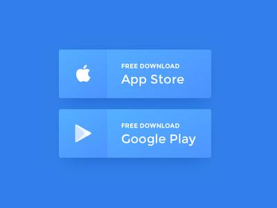 Daily UI #074 - Download App freebie google play ios button app download 074 dailyui concept ux web ui