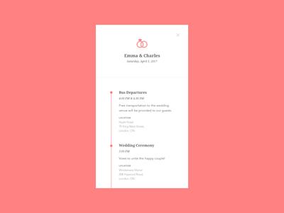 Daily UI #079 - Itinerary by Nancy Nguyen - Dribbble