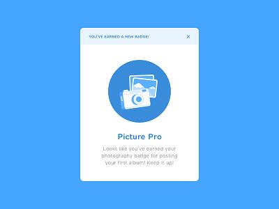 Daily UI #084 - Badge icon illustration vector camera photography pop-up badge 084 dailyui concept web ui ux