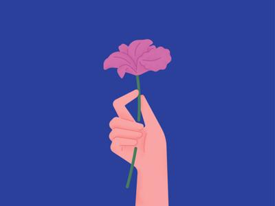 Brazilian Flower hand plant orchid sticker stickermule brazil flowers simple flat illustration