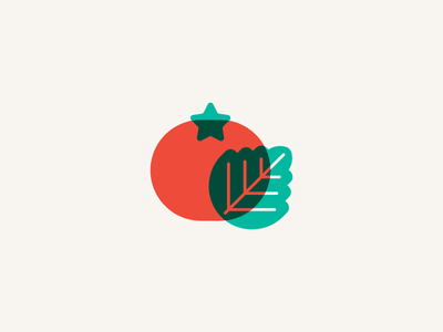 Tomato silkscreen vegetable plant sticker stickermule tomato minimal icon flat illustration vector