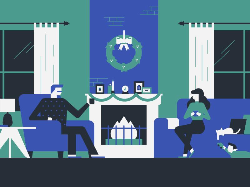 Holiday scenes 4 illustration dribbble