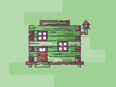 The Organic Lodge devine house strokes outdoor wooden wood cottage hut lodge cabin illustration