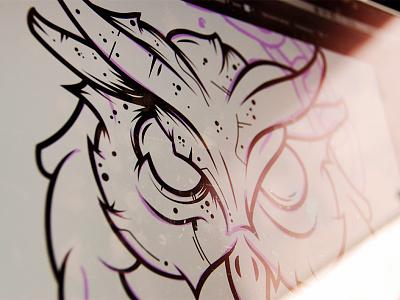 tattoo illustration tattoo design authority trapped chains tattoo owl illustration