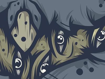 Owl Detail Shot bird creature mysterious dark eyes owl illustration