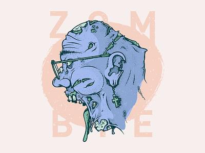 ZOMBIE texture grain undead illustrator illustration zombie