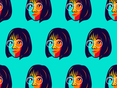 My girl avatar illustrator face avatar