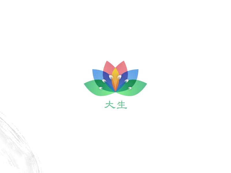 dasheng logo flower lotus china health