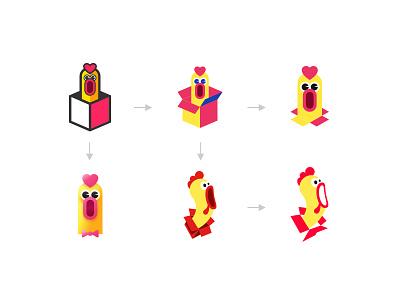 Chicken + box chicken box logo
