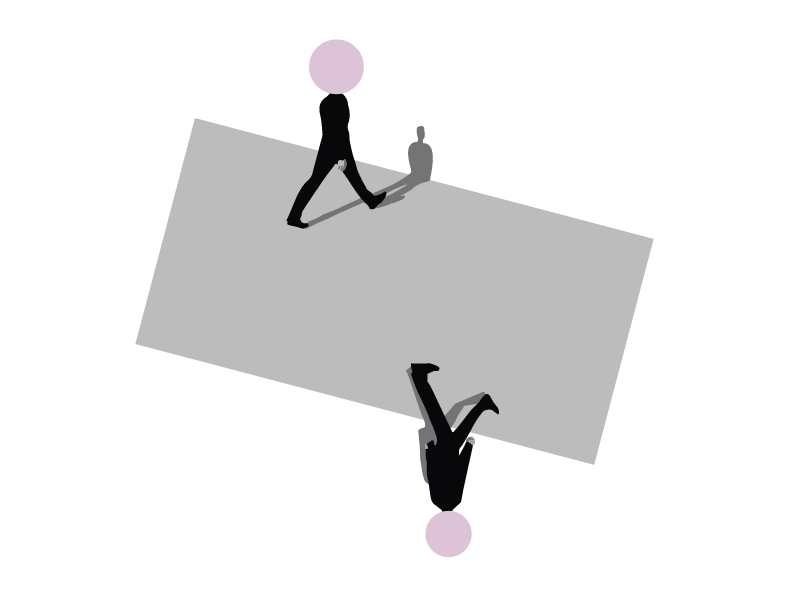 Crossing Paths come together beatles sun montealegre andrea dribbble hands pink ui ux minimalism minimal