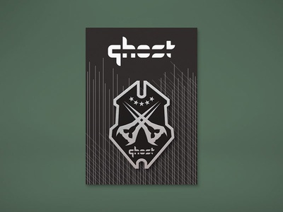 "Ghost Gaming ""Halo"" Enamel Pin Mockup"
