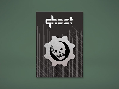 "Ghost Gaming ""Gears"" Mockup enamel pin gears of war badge design esports gamer gaming ghost skull gow gears"