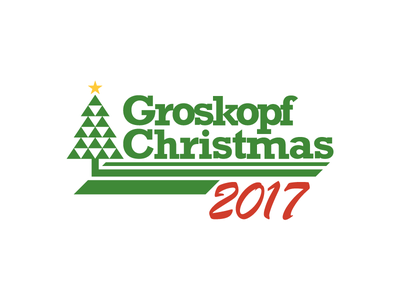 Groskopf Christmas 2017 party holiday red green xmas christmas