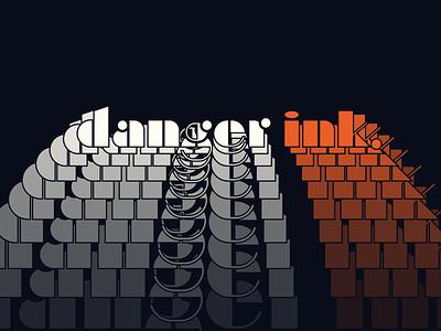 Danger Ink. mid century modern mid century noir design typography