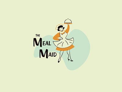 The Meal maid modern mid century modern mid century mid-century vector mark design logo