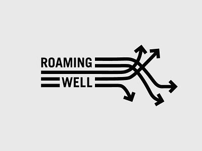 Roaming Well nomad coddiwomple roam blogger blog travel design mark logo