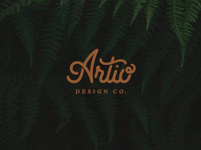 Artio Design Co. design logo brand identity branding logotype lettering illustration